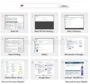 Opera 9.5 - Accesso Rapido - 9 Thumbs