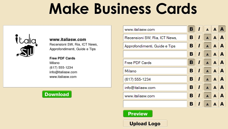 how to make business cards online