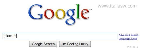 Google censura le raccomandazioni negative sull islam for Cerca per foto